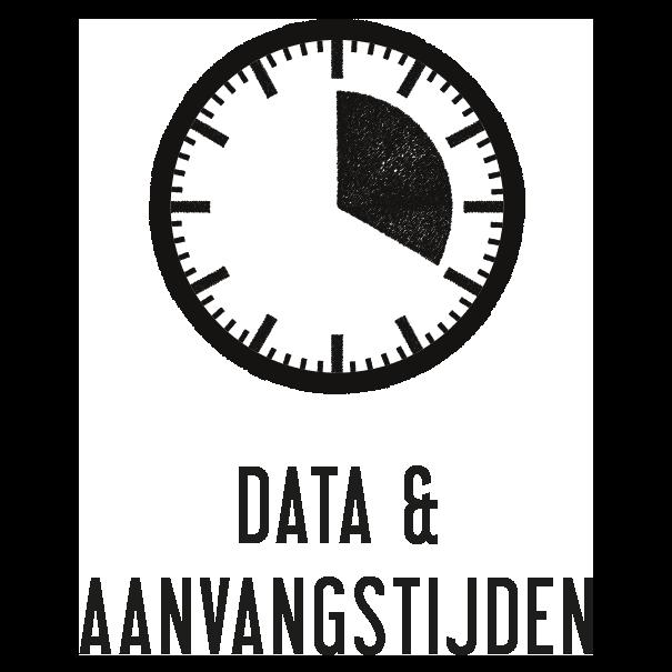 data en aanvangstijden
